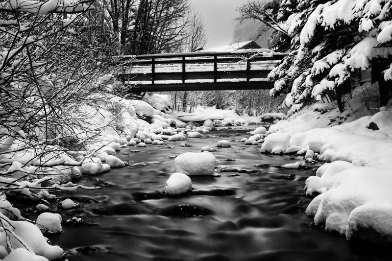 Tulluride Creek: Example of black and white photography