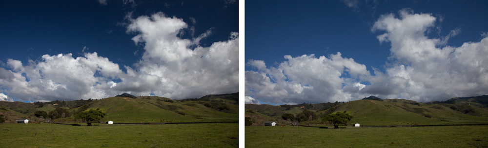 Using Polarizing Filters - Pictures with and without a polarizer