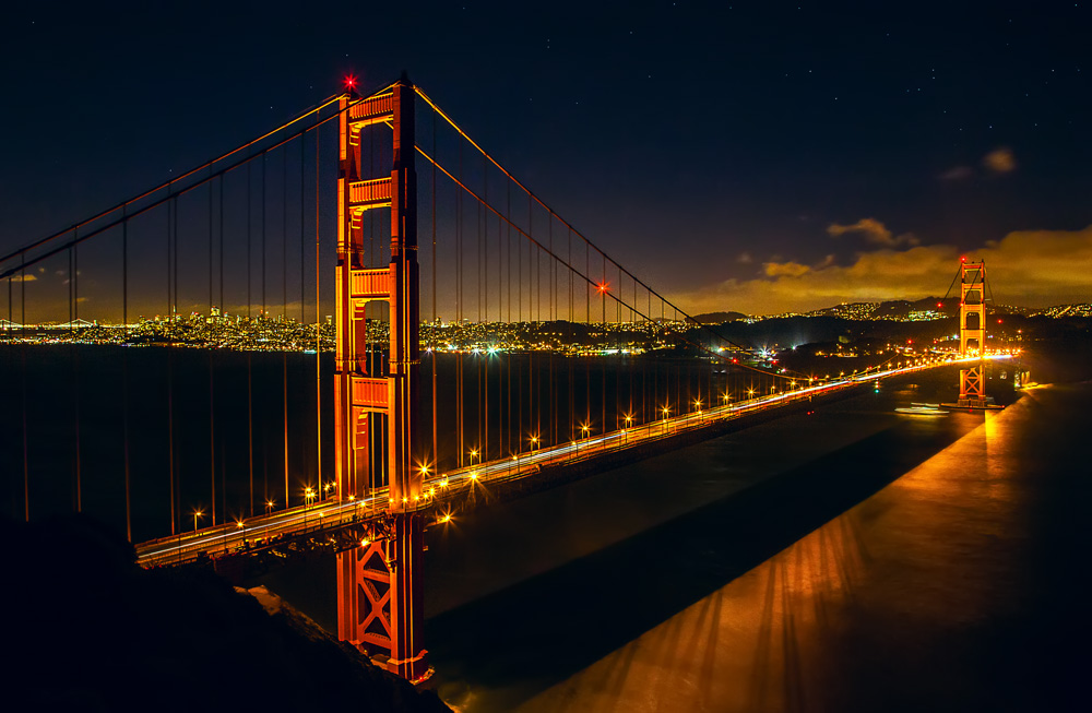 Shot of the Golden Gate Bridge from Battery Spencer Overlook in the Marin Headlands