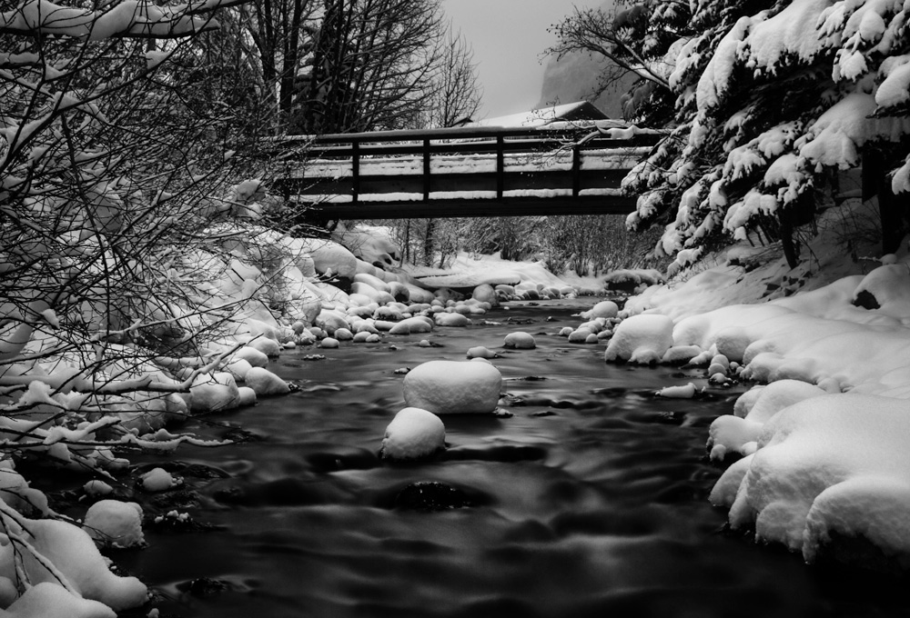 Telluride Creek - Example of black and white photography