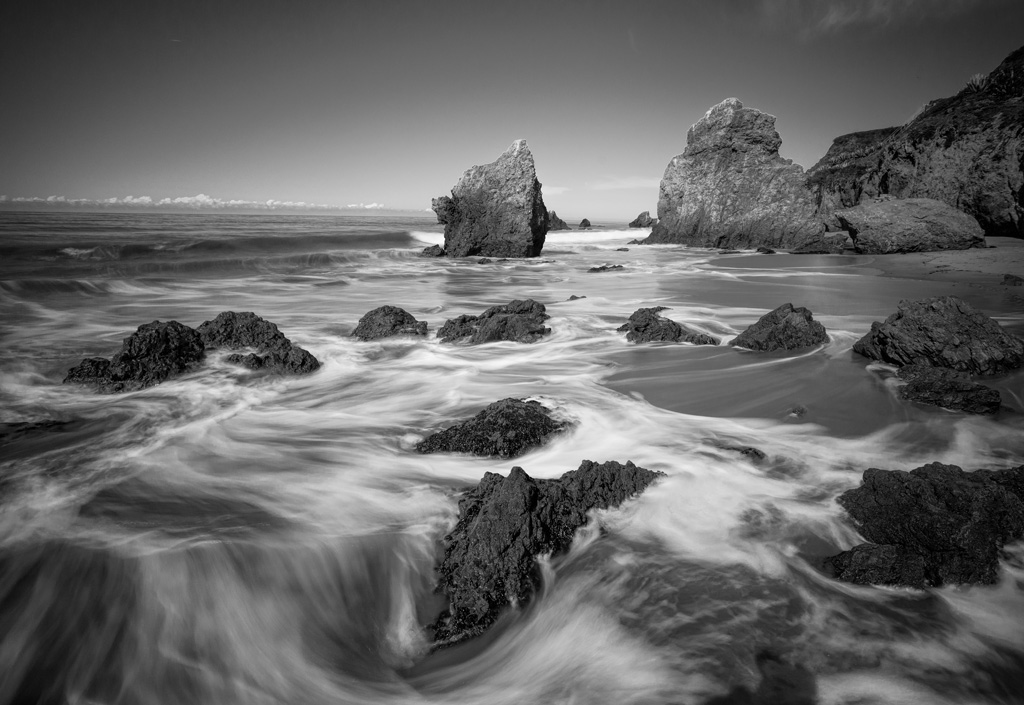 Long exposure example in El Matador State Beach, Malibu California