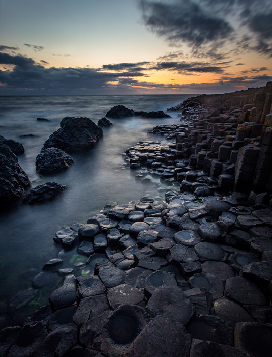 Long exposure example of Giant's Causeway.