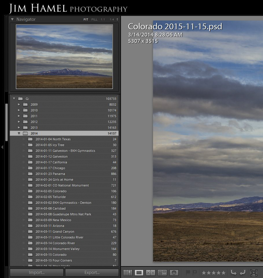 Photo Organization structure in Lightroom